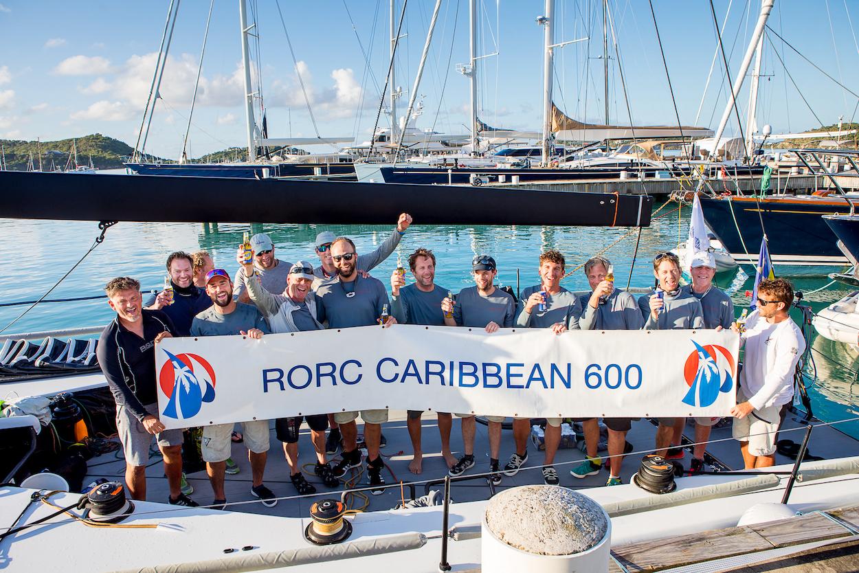 Tilmar Hansen's German TP52 Outsider is defending their overall win in the 2020 RORC Caribbean 600 © Arthur Daniel/RORC